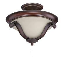 Craftmade SELK-SPZ - Seville 2 Light Bowl Fan Light Kit in Spanish Bronze with Creamy Frost Glass
